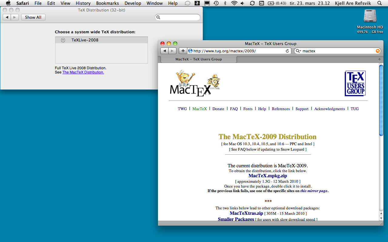 Tools to support writing and academic work on Mac OS X